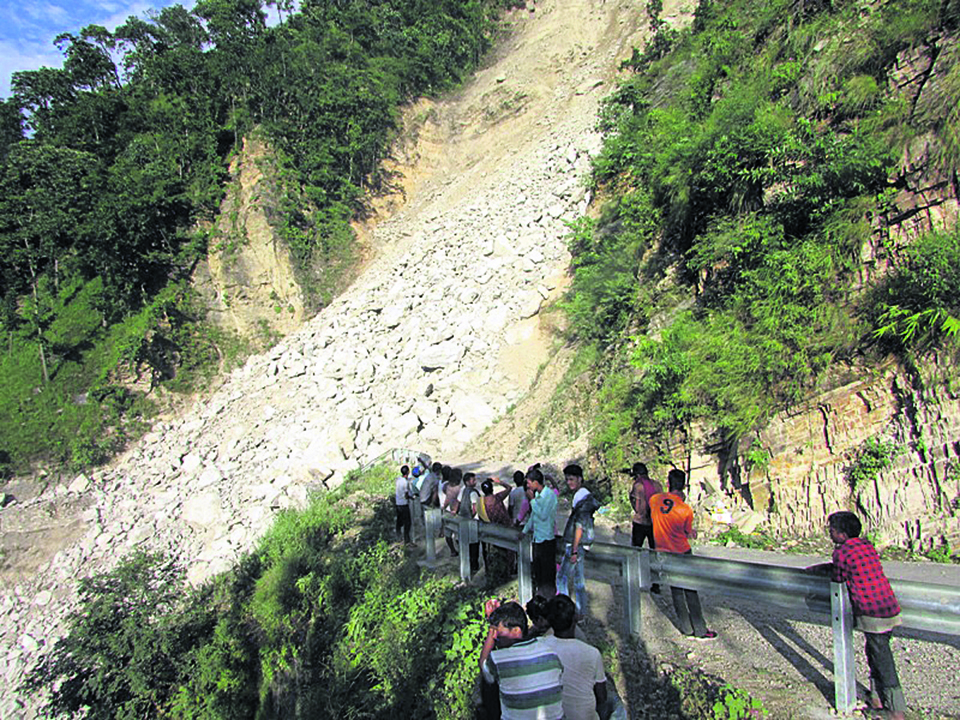 Commuters still forced to make perilous journey on Karnali Highway