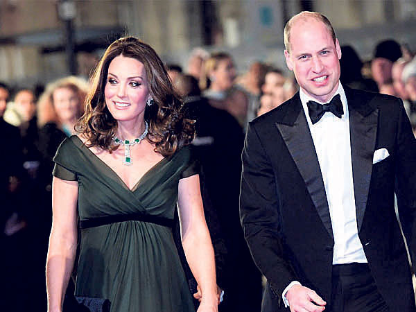 """BAFTAs: Kate Middleton goes green on """"Time's Up' dress code"""