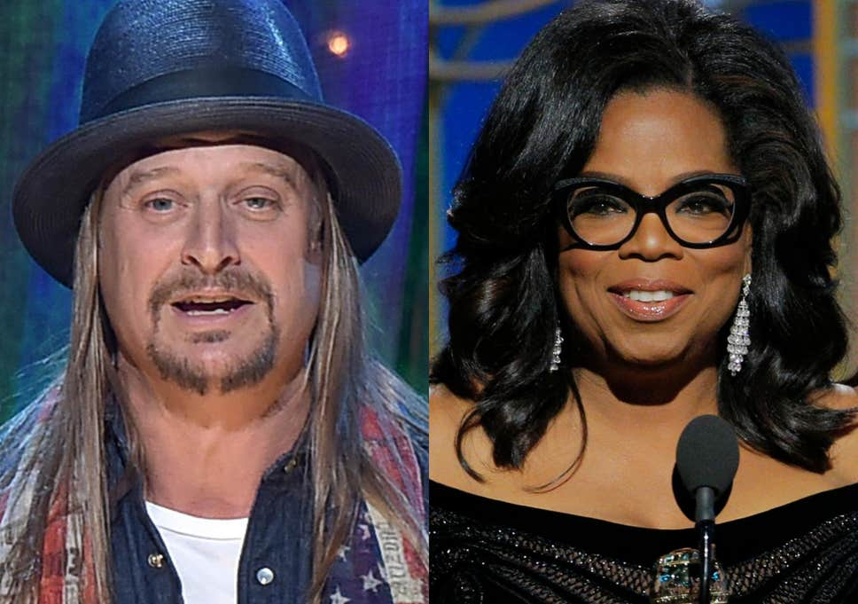 Kid Rock removed from stage after tirade against Oprah Winfrey