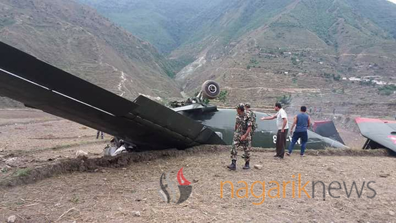 Pilot killed, 2 injured as NA cargo airplane crashes in Bajura