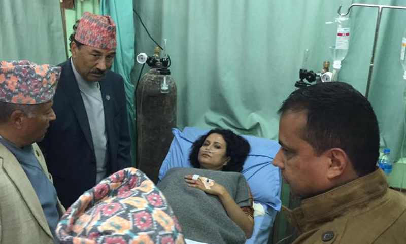 Komal Oli admitted to Model Hospital after being hit by teargas