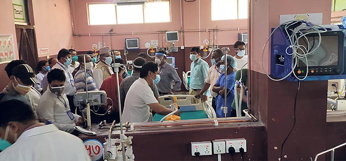 Koshi Hospital brings COVID-19 hospital with 62 beds into operation in Biratnagar