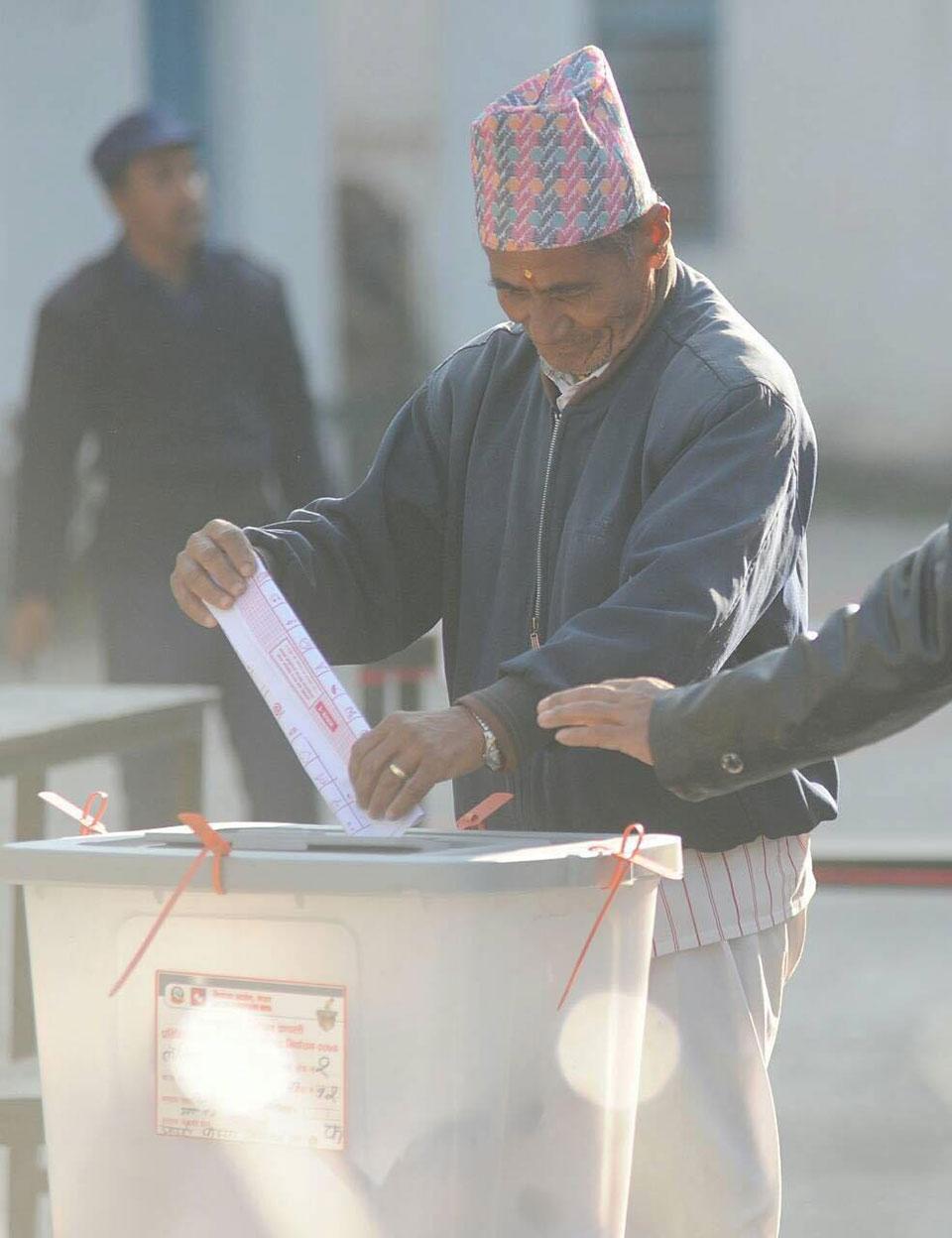 Voting at Mangalbazar (Photo Feature)