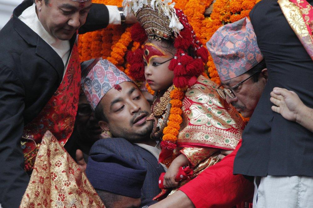 Nepal festival season starts with goddess, dance