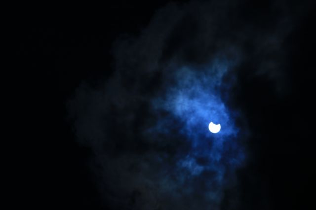 Photos: Partial solar eclipse as seen from Bhaktapur - myRepublica ...