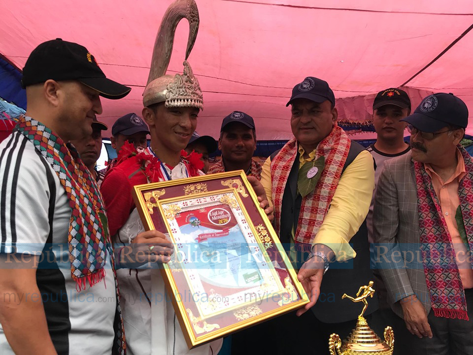 Magar wins crown of Liglige Race in Gorkha