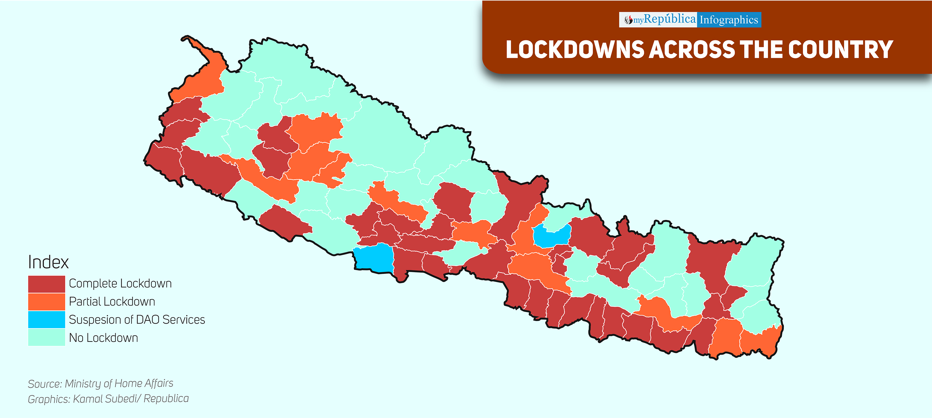 INFOGRAPHICS: 48 districts have partial or complete lockdown