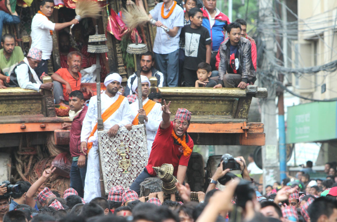 In pictures: Chariot pulling of Rato Machhindranath