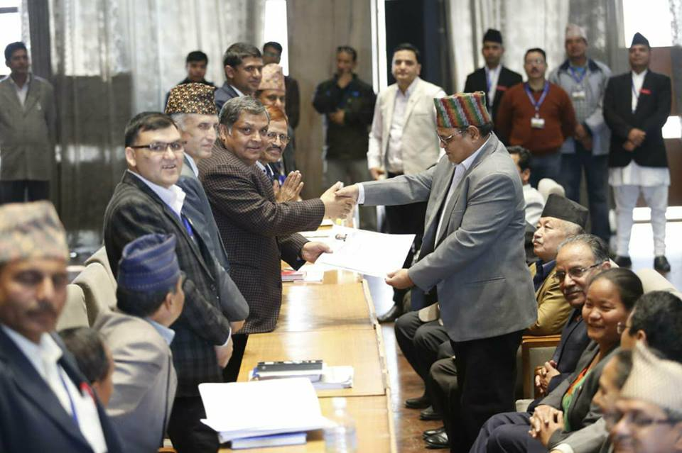 Mahara files candidacy to be speaker of Federal Parliament