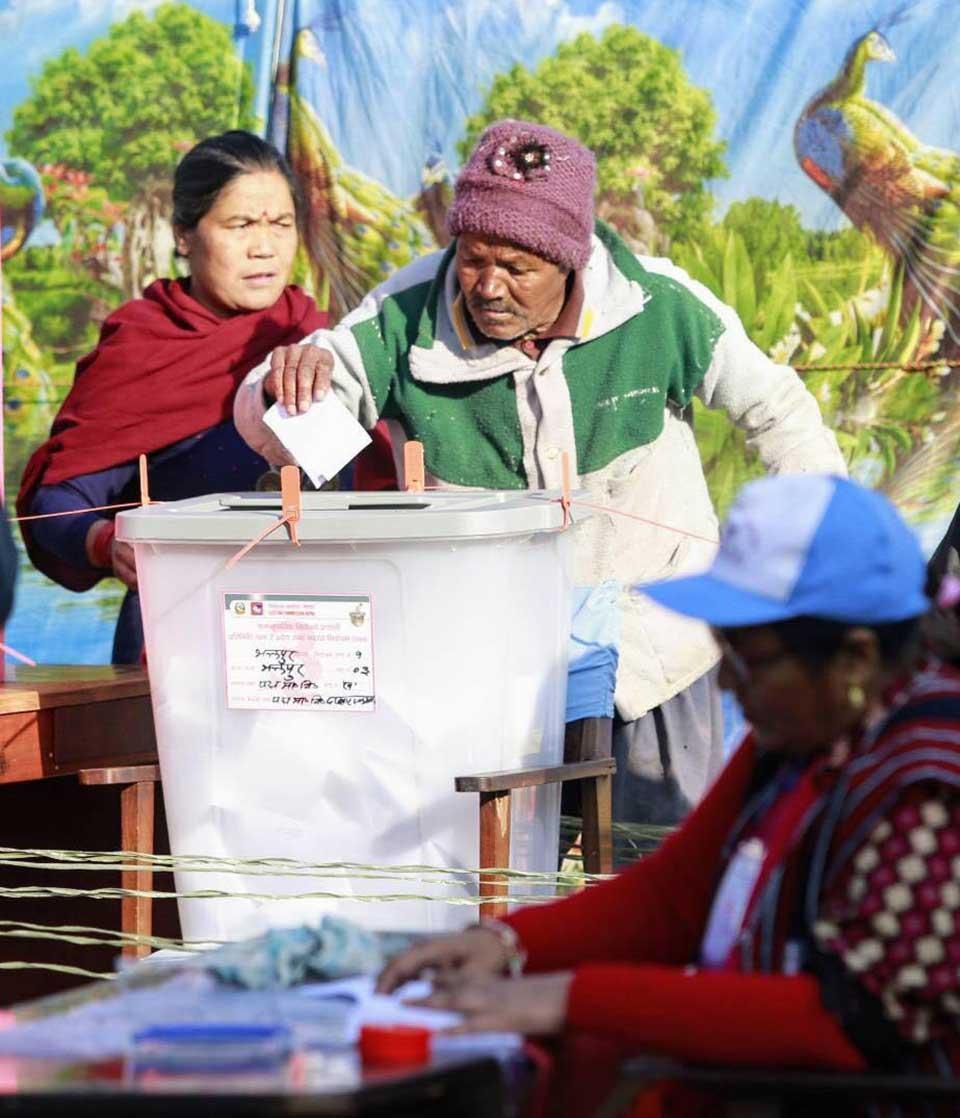In pictures: Voting in Padma School Kathmandu