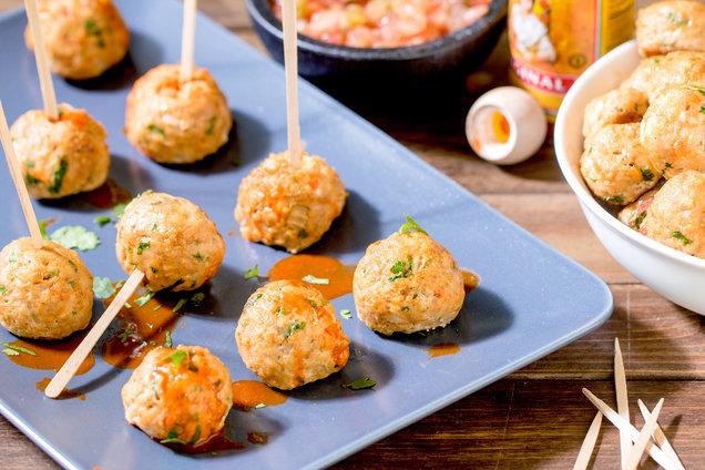 Mini Mexican Chicken Meatballs: Recipe