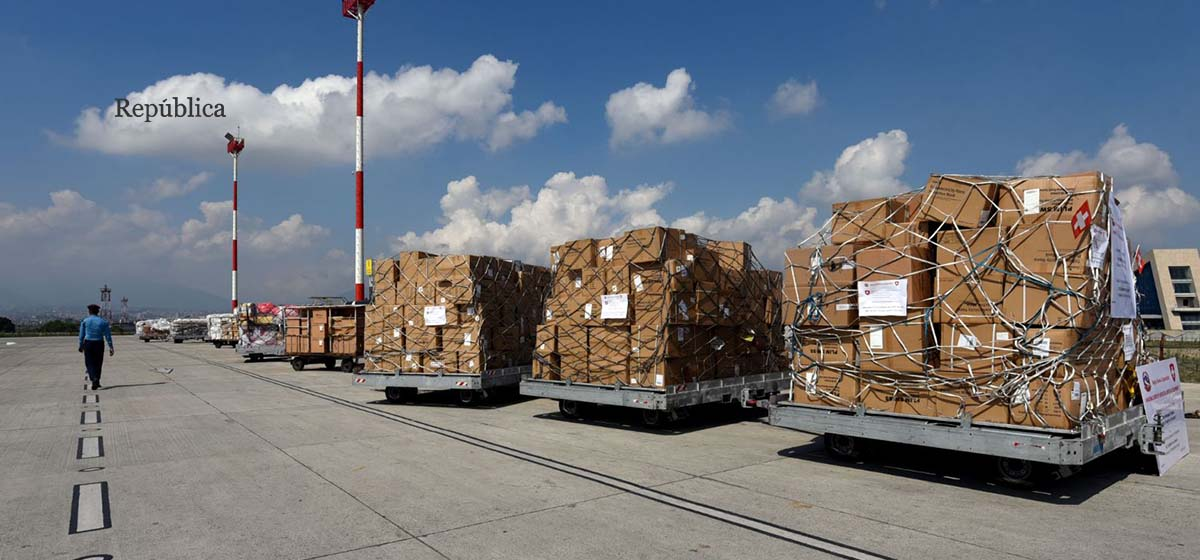 IN PICS: Medical supplies from Switzerland worth USD 8 million arrive in Nepal