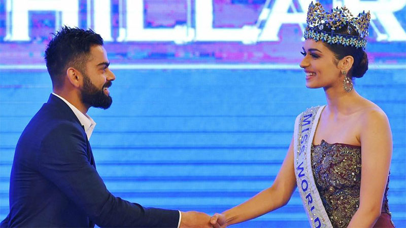 Virat Kohli's reply to Manushi Chhillar's question is taking internet by storm
