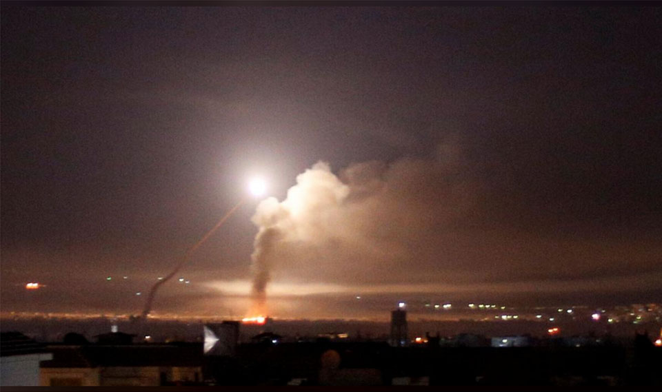 Iran targets Israeli bases across Syrian frontier, Israel pounds Syria