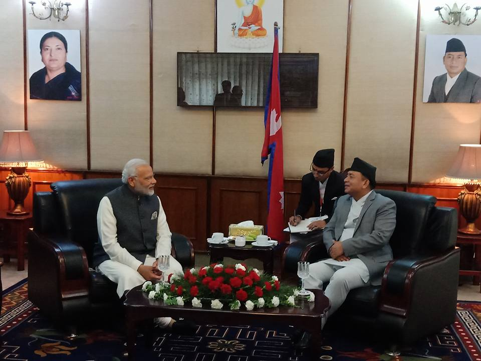 Indian PM Modi pays a call on Veep Pun