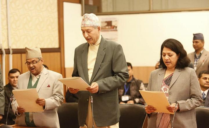 UML govt recommended NA members sworn-in