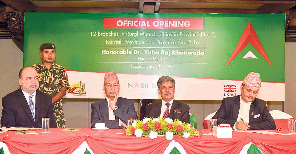 Nabil Bank inaugurates12 branch offices