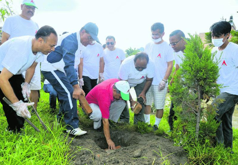 Nabil Bank organizes tree plantation program