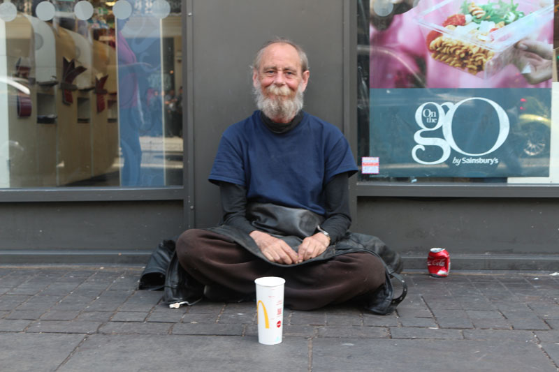 Beggars on multicultural streets