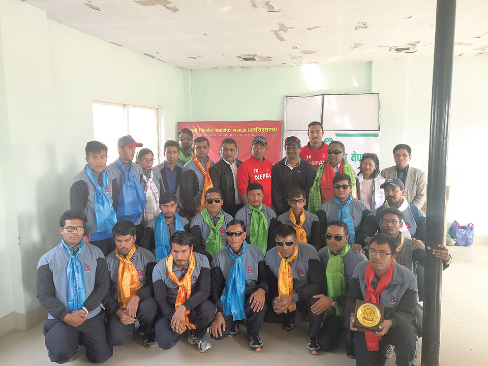 NCSS felicitates Blind Cricketers