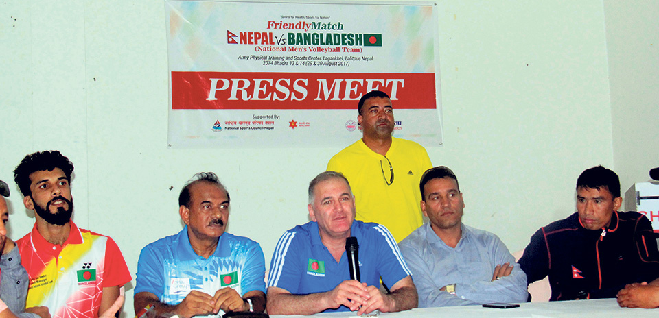 Nepal, Bangladesh to lock horns in volleyball friendly