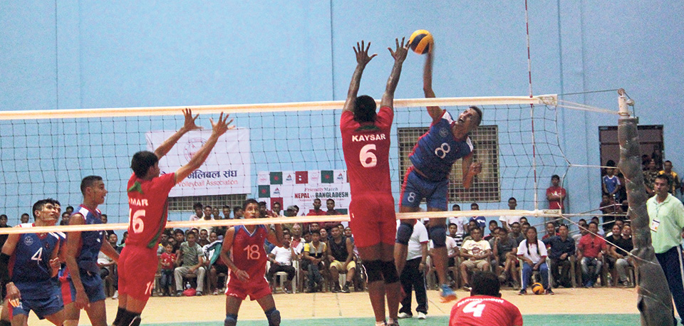 Nepal defeats Bangladesh in volleyball friendly