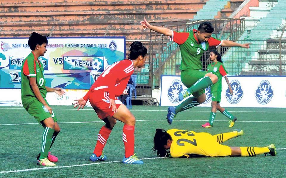 Nepal goes down to B'desh in SAFF U-15 Women's Championship