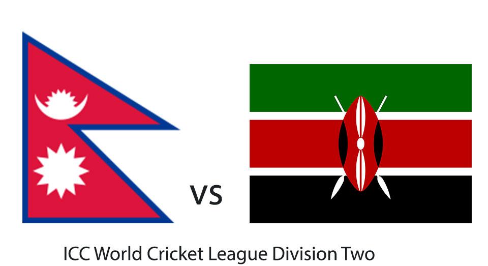 Nepal facing Kenya at ICC World Cricket League Division Two