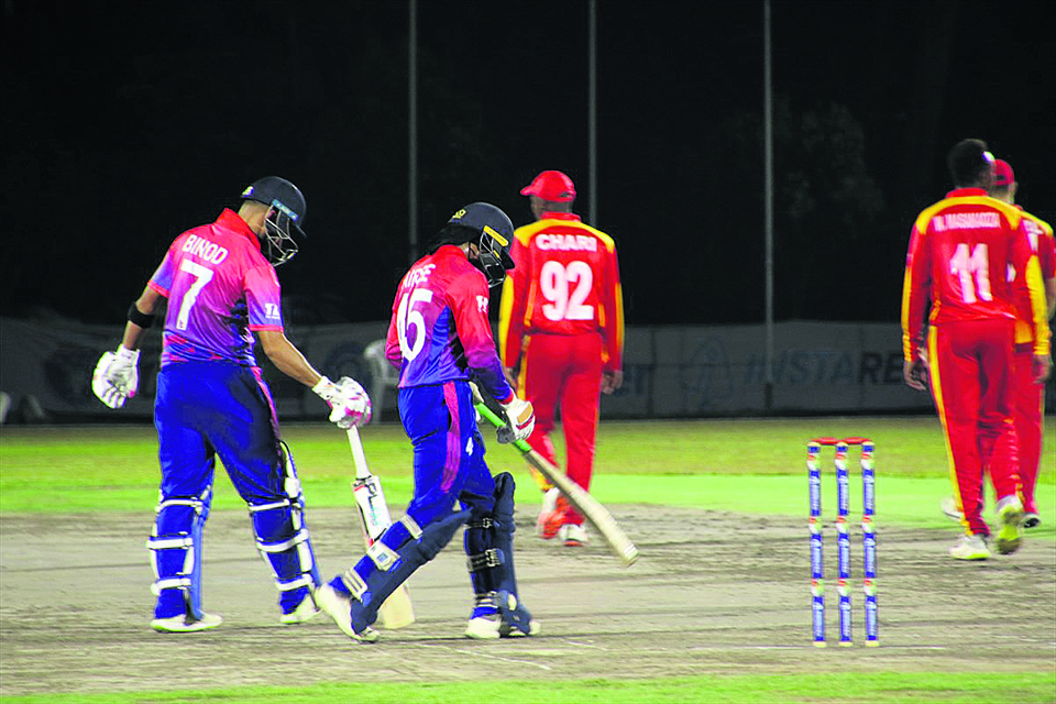 Top order fails as Nepal surrenders good position in loss against Zimbabwe