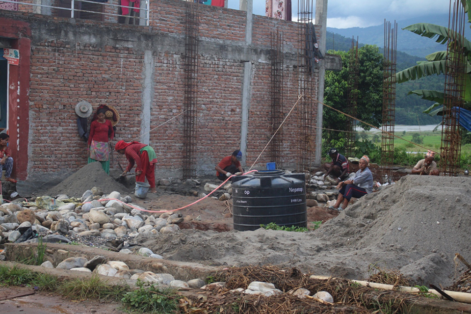 Lack of raw materials affects reconstruction in Gorkha