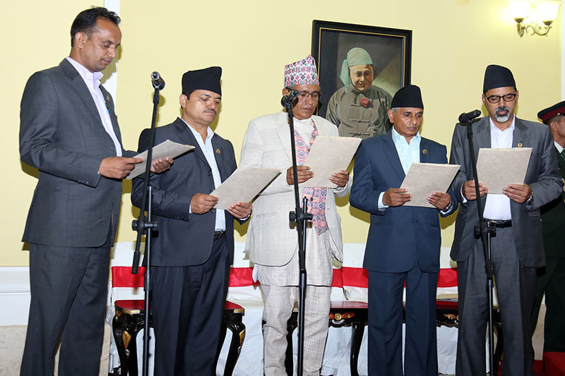 Five ministers administered oath
