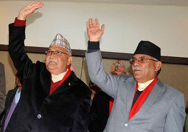 Oli, Dahal table political document
