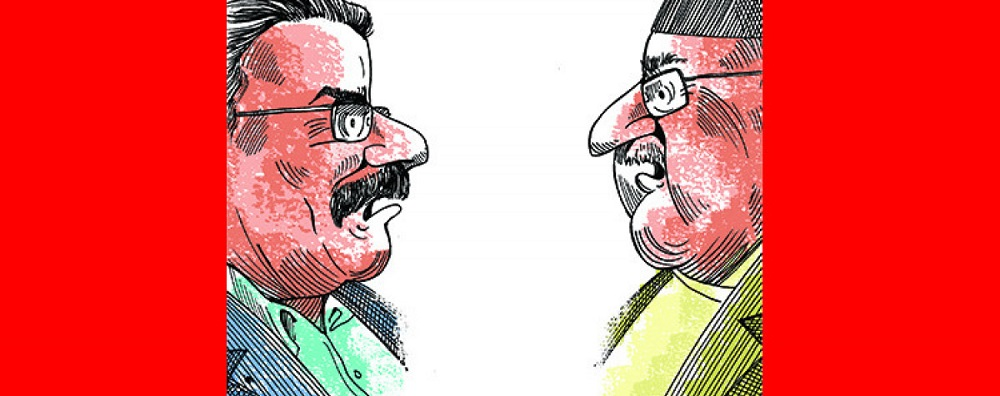 Dahal, Oli hold meeting after a hiatus of seven days