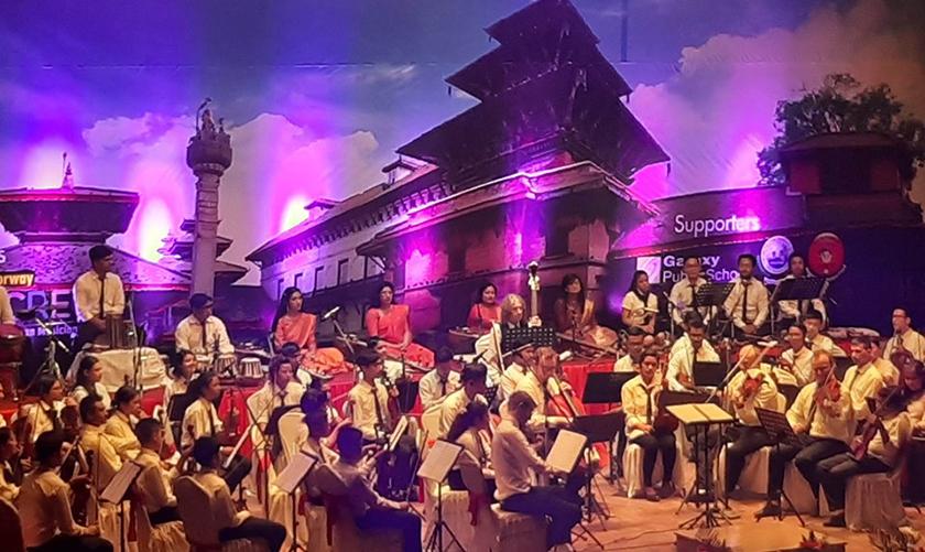 Orchestra music resonates in Kathmandu