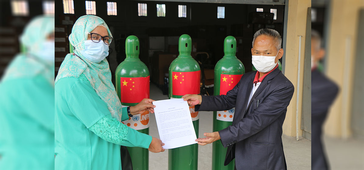 UNFPA delivers 800 units of oxygen cylinders to Nepal