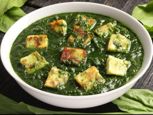 Recipe of palak paneer