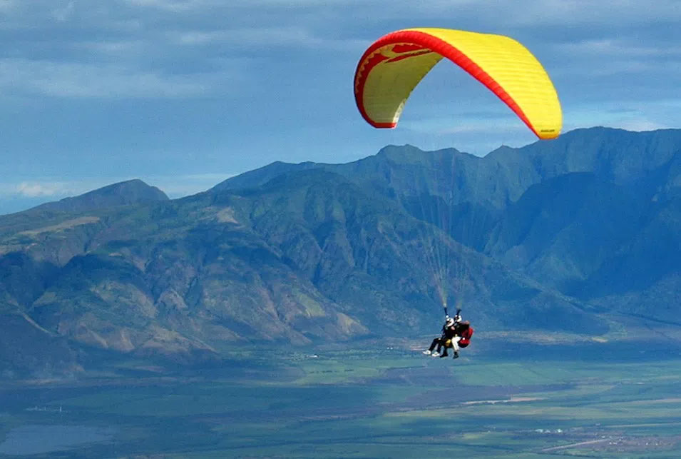Baglung's Panchakot successfully tests paragliding flights