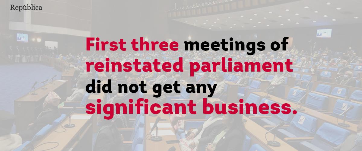 No major agenda set for tomorrow's parliament meeting