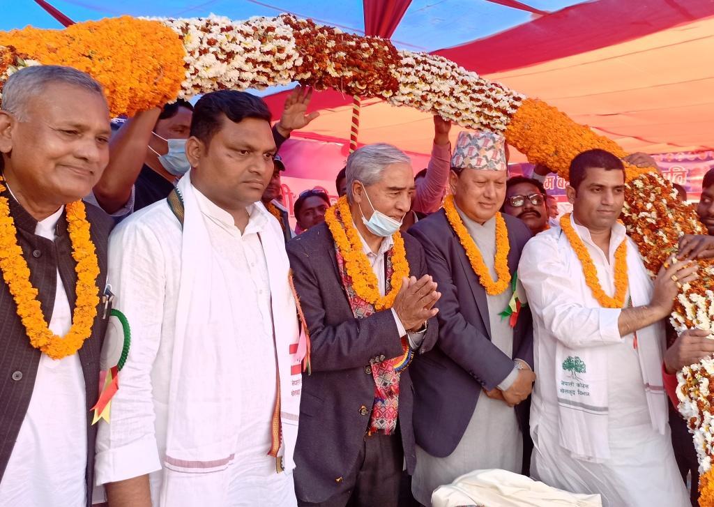 NC should shoulder responsibility to given political outlet: Deuba