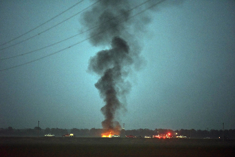 At least 16 die in military plane crash in rural Mississippi
