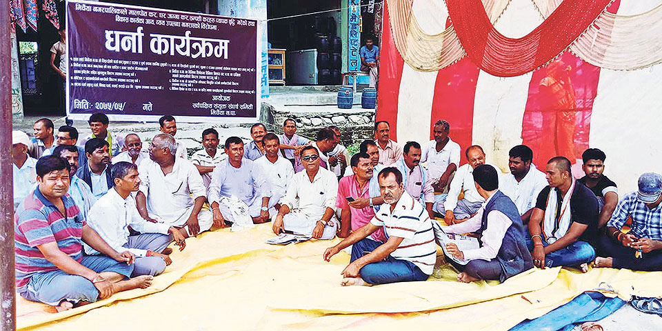Locals protest against local government