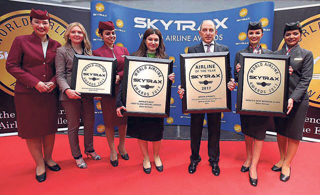Qatar Airways named 'Airline of the Year' award