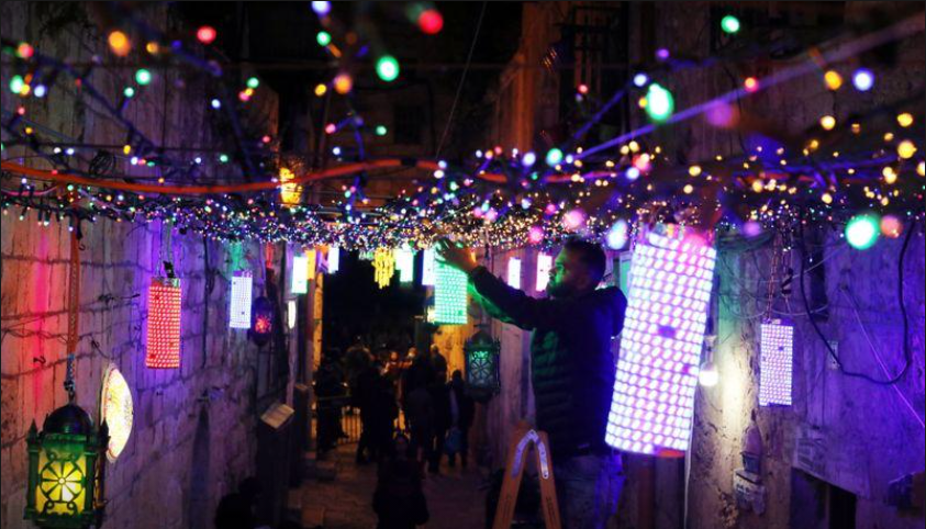 Ramadan decorations up in Jerusalem as Palestinians prepare for Muslim holy month
