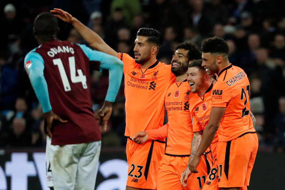 Liverpool crush sorry West Ham, Burnley flying high