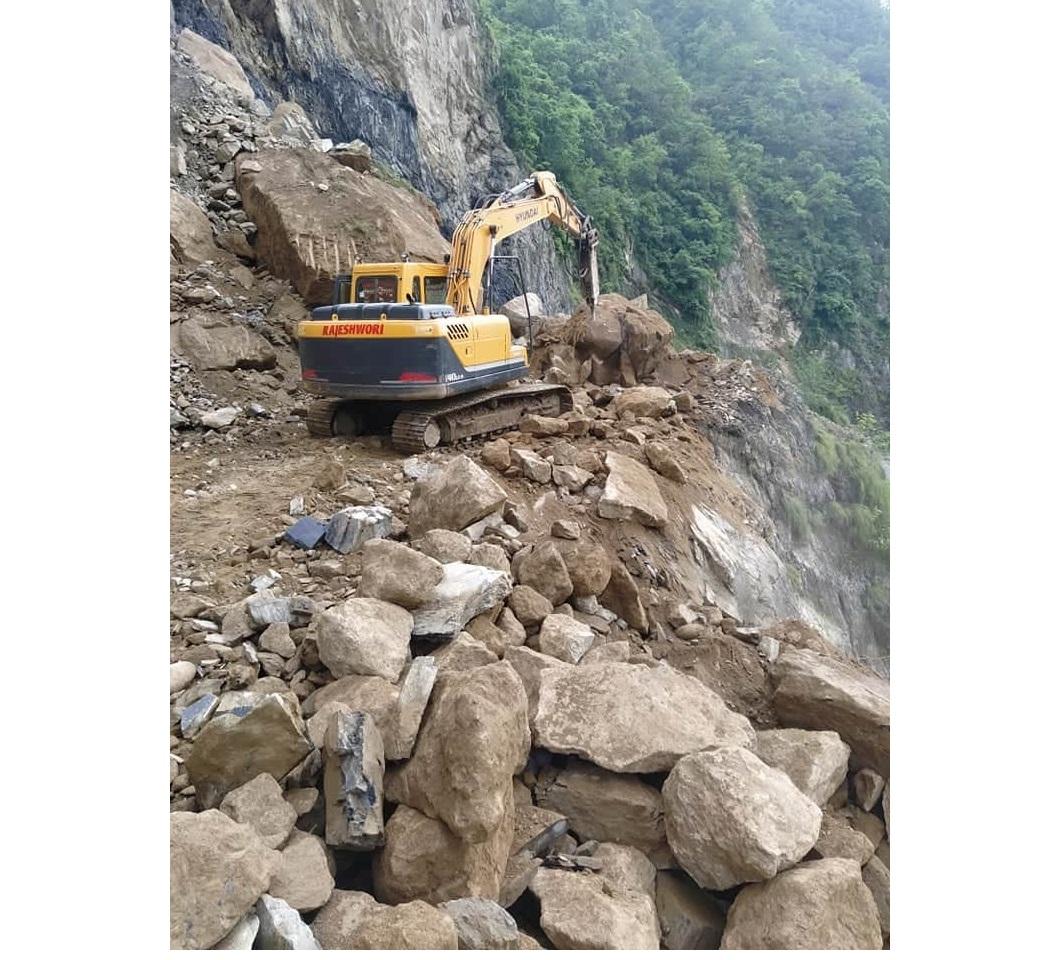 Ridi-Rudrabeni section along Kaligandaki Corridor blocked for three days