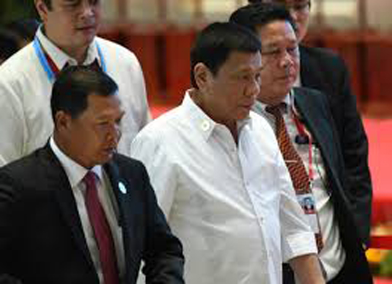 Philippines President Rodrigo Duterte gives middle finger to the EU