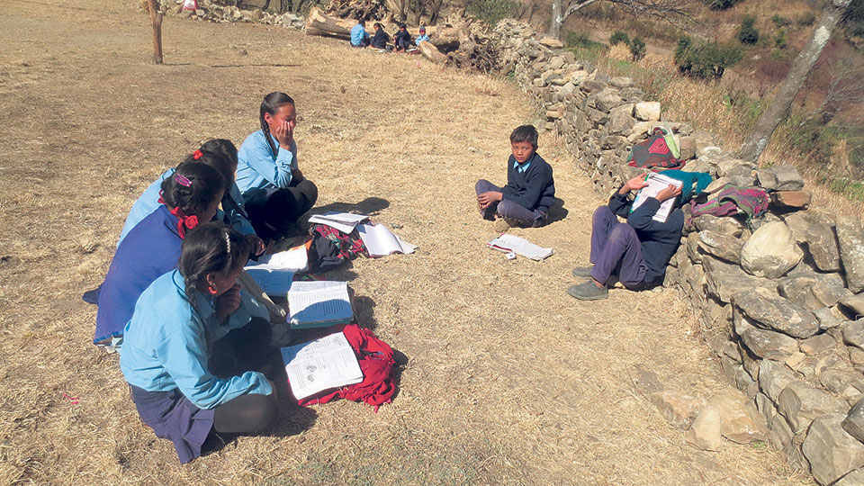 Distressing condition of schools and colleges in Rolpa