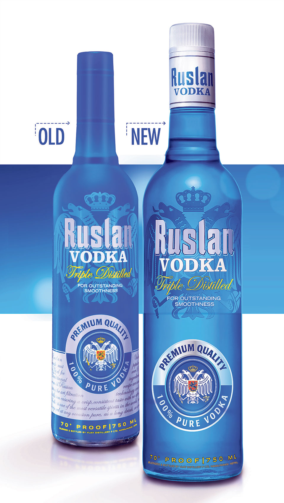 Vijay Distillery gives Ruslan Vodka in new look