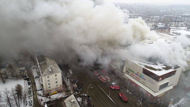 37 dead, 69 missing in Russian shopping center fire