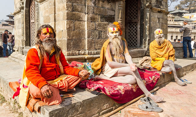 Sages, Sadhu seen off from Pashupatinath
